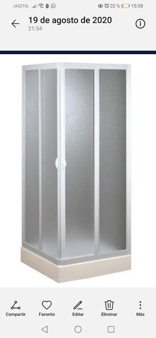 Mampara de Ducha 70x70cm con apertura central