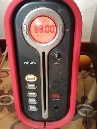 Philips hifi CD radio rojo designó mz 1100