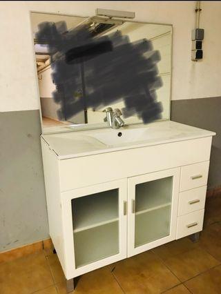 Mueble baño y espejo