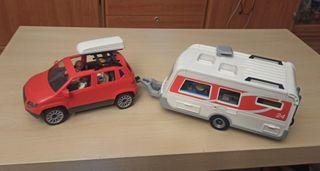 Playmobil coche con caravana