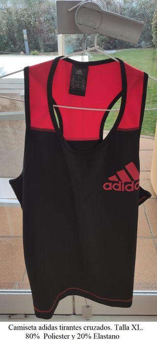 Camiseta mujer Adidas de tirantes cruzados