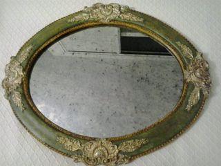 Espejo italiano ovalado de 48 x 40 cm