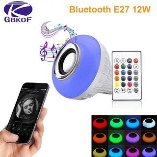 Bombilla inteligente E27 de 12W, bombilla LED RGB,