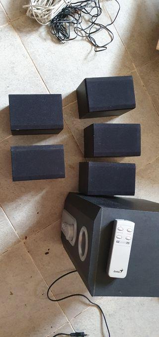 subwofer amplificador equipo de sonido