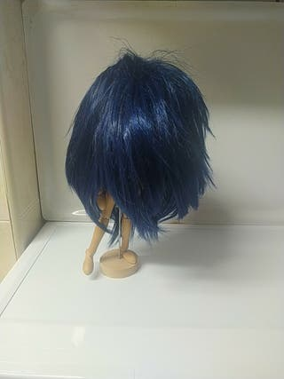 Peluca Cosplay azul oscuro