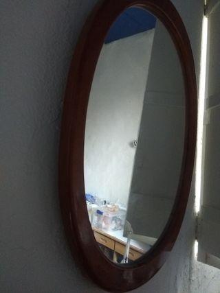 espejo ovalado grande