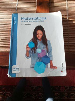 libro de Matemáticas Santillana 3 ESO