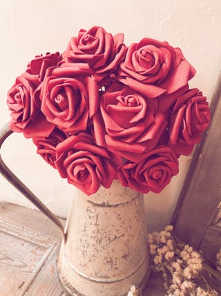 New Conjunto de 12 Grandes Rosas artificiales