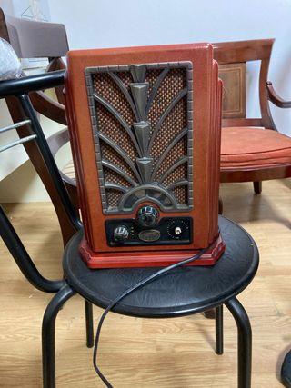 Radio antigüedad madera