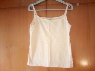 Camiseta de tirantes vainilla talla L
