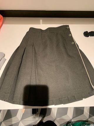 Falda colegial uniforme de niña talla 8