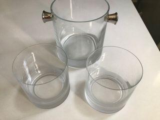 Cubitera y vasos