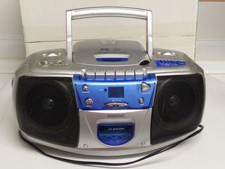 Reproductor CD/MP3/radio/cassete