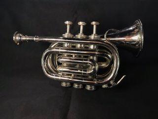 Trompeta de pistones plateada
