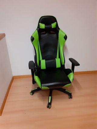 Silla de escritorio gaming verde lima