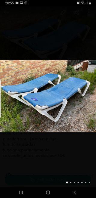 Tumbona playa o jardín 20€ cada una