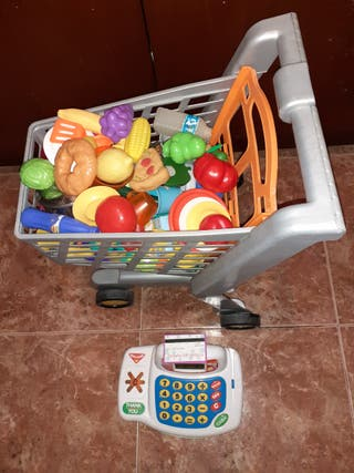carrito compra y caja registradora infantil