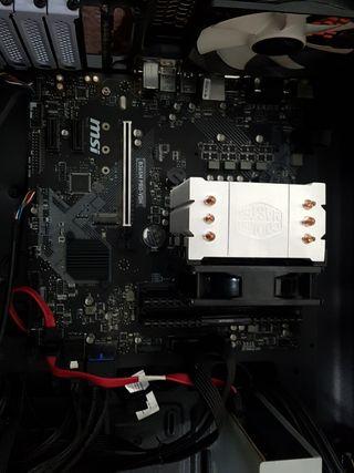 Pack placa base ram procesador y ventilación.