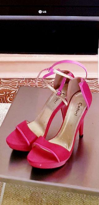 Zapatos de tacon tipo sandalias para fiesta