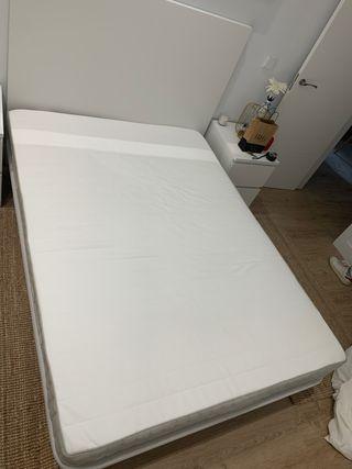 Colchón Base cama y cabecero A ESTRENAR 135cm