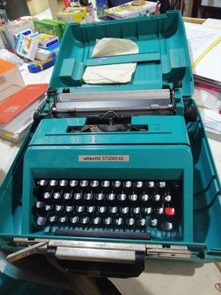 maquina de escribir antigua olivetti 45 ti