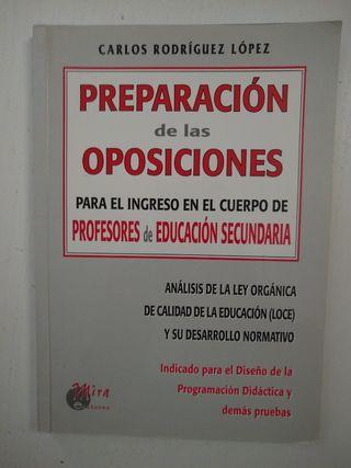 """Preparación Oposiciones""""-Profesorado Secundaria"""