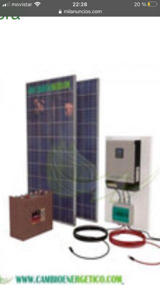 Kit solar para casa de campo