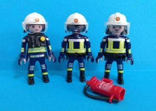 3 Figuras por 5€!!! Playmobil bomberos