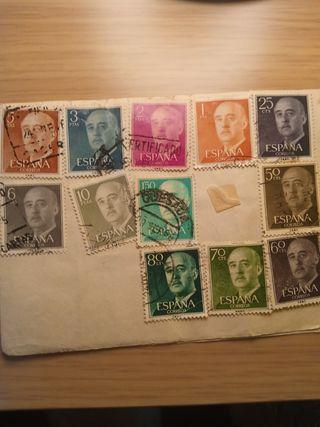 sellos de Francisco Franco