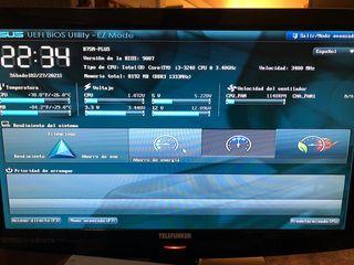 Placa base + procesador + Ram + Disco