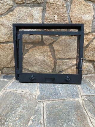 puerta y marco para chimenea