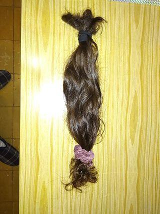 extension natural de 35cm color castaño oscuro