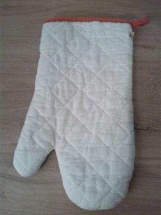 Manopla o guante para cocina protectora de algodón