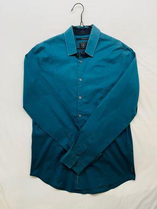 Camisa Calvin Klein Azul Turquesa