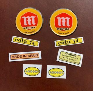 Montesa Cota 74 adhesivos clásicos
