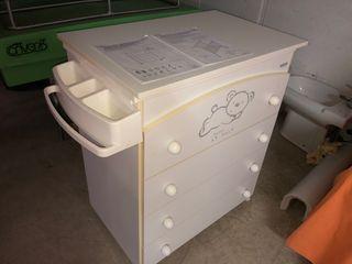 Mueble cajonera bañera bebe