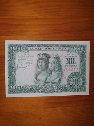 BILLETE 1000 PESETAS 1957. REYES CATÓLICOS. EBC