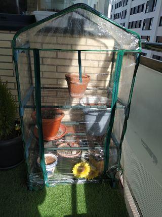 Comparar Invernadero de 3 baldas de acero y PVC
