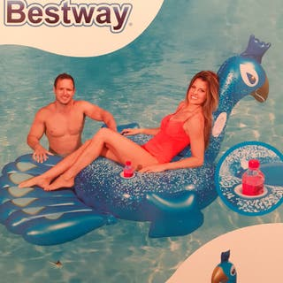Enorme flotador pavo Bestway (198×164)