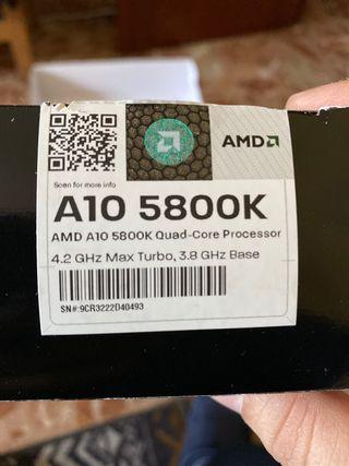 Disipador de serie A10 5800K AMD