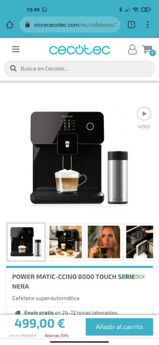 Cafetera CECOTEC POWER MATIC CCINO 8000 TOUCH