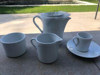 Juego de café de porcelana fina