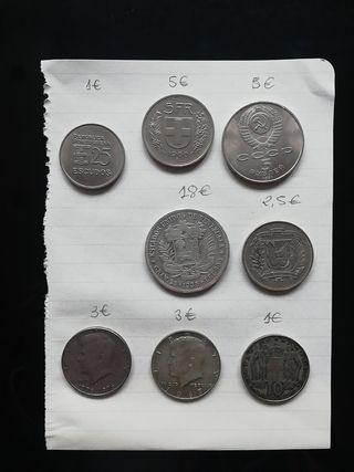 Lote monedas antiguas extranjeras