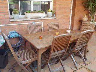 mesa madera teka