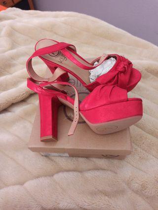 zapato rojo fiesta