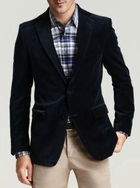 chaqueta americana de hombre de color negro