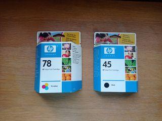 Cartuchos HP 78 y HP 45
