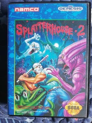 Mega Drive Splatter House 2 Completo Genesis