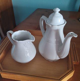 Lechera y cafetera porcelana