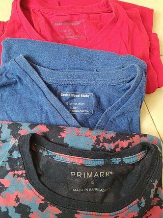 Camisetas roja y azul manga larga